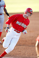June 22, 2009:  Shortstop Ryan Jackson of the Batavia Muckdogs runs the bases during a game at Dwyer Stadium in Batavia, NY.  The Muckdogs are the NY-Penn League Short-Season Class-A affiliate of the St. Louis Cardinals.  Photo by:  Mike Janes/Four Seam Images