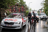 Jelle Vanendert (BEL/Lotto-Soudal) abandons in a super rainy stage 5<br /> <br /> Stage 5: Frascati to Terracina (140km)<br /> 102nd Giro d'Italia 2019<br /> <br /> ©kramon