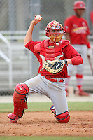 April 14, 2009:  Catcher Jack Cawley of the St. Louis Cardinals extended spring training team during a game at Roger Dean Stadium Training Complex in Jupiter, FL.  Photo by:  Mike Janes/Four Seam Images