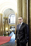 Michael Mueller,  Regierender Buergermeister, Portrait, Einzelportrait, Innenaufnahme, Rotes Rathaus,<br /> <br /> Europa, Deutschland, Berlin, 16.12.15<br /> <br /> Engl.: Michael Mueller,  governing mayor of Berlin, politician and member of party SPD, portrait in Red Town Hall in Berlin, Germany, Europe, December 16, 2015. german politics, city hall, federal capital