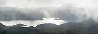 Moody scene of Lake Waikaremoana, Te Urewera, Hawke's Bay, North Island, New Zealand, NZ