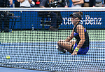 September 7,2019:  Bianca Andreescu (CAN) celebrates her victory over Serena Williams (USA) 6-3, 7-5, at the US Open being played at Billie Jean King National Tennis Center in Flushing, Queens, NY.  ©Jo Becktold/CSM