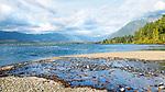 Lake Quinault, Olympic Peninsula, Washington State.  Lake Quniault, Quinault Nation, lie adjacent to the Olympic National Forest and Olympic National Park.