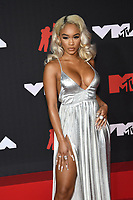 NEW YORK, NY- SEPTEMBER 12: Saweetie at the 2021 MTV Video Music Awards at Barclays Center on September 12, 2021 in Brooklyn,  New York City. <br /> CAP/MPI/JP<br /> ©JP/MPI/Capital Pictures