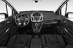 Stock photo of straight dashboard view of 2016 Ford Transit-Connect XLT-LWB 5 Door mini MPV Dashboard