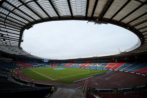 GLASGOW, SCOTLAND - JANUARY 28:  Hampden Park GV prior to the Scottish Communities Cup Semi Final match between Ayr United and Kilmarnock at Hampden Park on January 28, 2012 in Glasgow, United Kingdom. (Photo by Rob Casey/Getty Images).
