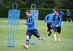 Andy Halliday enjoying his training at Rangers