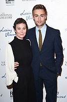 "Helen McCrory and Douglas Booth<br /> arriving for the London Film Festival 2017 screening of ""Loving Vincent"" at the National Gallery, Trafalgar Square, London<br /> <br /> <br /> ©Ash Knotek  D3328  09/10/2017"