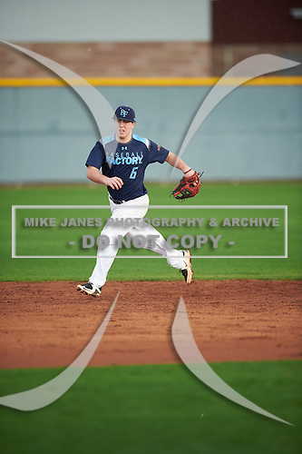 Jared Donnelly (6) of Mount Sinai High School in Mount Sinai, New York during the Under Armour All-American Pre-Season Tournament presented by Baseball Factory on January 14, 2017 at Sloan Park in Mesa, Arizona.  (Mike Janes/Mike Janes Photography)