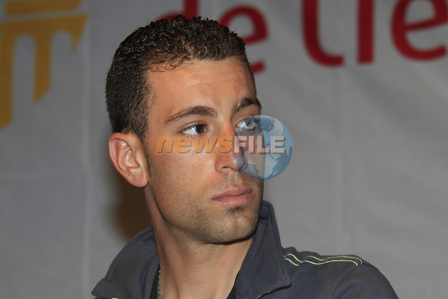 Vincenzo Nibali (ITA) at the Liquigas-Cannondale Team press conference in the Country Hall, Liege, Belgium before the 2012 Tour de France, Liege, Belgium. 28th June 2012.<br /> (Photo by Eoin Clarke/NEWSFILE)
