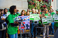 Led by Sierra Club a protest was staged outside Chicago's City Hall to demand that the city move away from coal fired power and to cleaner alternatives like wind energy. Petitions were presented to Mayor Rahm Emanuel. September 20th, 2011.