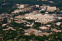 Aerial photo of SouthPark mall in Charlotte, NC, taken May 2008.