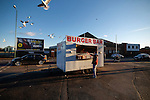 Notts County 0 Mansfield Town 0, 14/01/2017. Meadow Lane, League Two. Gulls circling a burger van. Photo by Paul Thompson.
