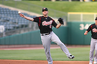 June 4, 2009:  Jeff Baisley of the Sacramento River Cats, Pacific Cost League Triple A affiliate of the Oakland Athletics, during a game at the Spring Mobile Ballpark in Salt Lake City, UT.  Photo by:  Matthew Sauk/Four Seam Images