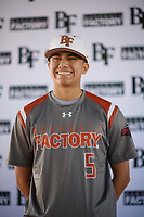 Alexander Jackson (5) of Venus High School in Venus, Texas during the Baseball Factory All-America Pre-Season Tournament, powered by Under Armour, on January 12, 2018 at Sloan Park Complex in Mesa, Arizona.  (Zachary Lucy/Four Seam Images)