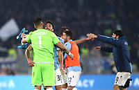 Football, Serie A: S.S. Lazio - Juventus Olympic stadium, Rome, December 7, 2019. <br /> Juventus' players celebrates after winning 3-1 the Italian Serie A football match between S.S. Lazio and Juventus at Rome's Olympic stadium, Rome on December 7, 2019.<br /> UPDATE IMAGES PRESS/Isabella Bonotto