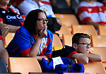 Port Vale 3 Doncaster Rovers 0, 22/08/2015. League One, Vale Park. downcast Doncaster fans. Photo by Paul Thompson.