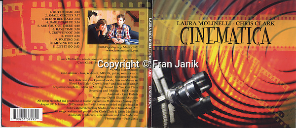 """""""Cinematica"""" CD cover done for Vermont based artist musician Laura Molinelli and Chris Clark."""