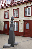 Quebec (QC) CANADA - Sept 5 2009 - - statue in fron of artist jean-Paul Lemieux's house