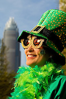 Photography of the Charlotte NC St. Patrick's Day Parade in March 2012. Image shows Tammy Greyshock, a guest of the Federal Clan. Photography is part of a series of St. Patrick's Day Parade photos in Charlotte, NC.