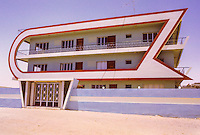 Kuwait, Fahaheel, August 1968.  Private House; Modern Architecture of the late 1960s.