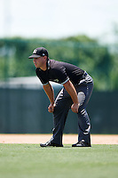 Umpire Ben Rosen during a game between the GCL Braves and GCL Pirates on August 10, 2016 at Pirate City in Bradenton, Florida.  GCL Braves defeated the GCL Pirates 5-1.  (Mike Janes/Four Seam Images)