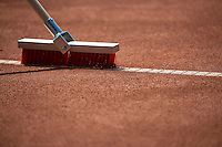 The Hague, Netherlands, 26 July, 2016, Tennis,  The Hague Open , Line broom tweeping the lines<br /> Photo: Henk Koster/tennisimages.com