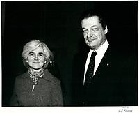 Michel Belanger et son epouse, circa 1979.<br /> <br /> <br /> PHOTO : Agence Quebec Presse