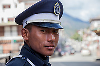 Thimphu, Bhutan.  Traffic Policeman.