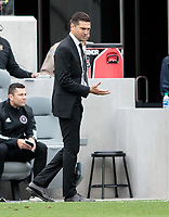 LOS ANGELES, CA - MARCH 01: Diego Alonso head coach of Inter Miami CF during a game between Inter Miami CF and Los Angeles FC at Banc of California Stadium on March 01, 2020 in Los Angeles, California.