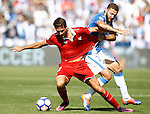 CD Leganes' David Timor (r) and Sevilla FC's Franco Vazquez during La Liga match. October 15,2016. (ALTERPHOTOS/Acero)