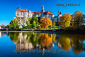 Tom Mackie, LANDSCAPES, LANDSCHAFTEN, PAISAJES, photos,+Baden-Wurttemberg, Bavaria, Deutschland, Europe, German, Germany, Sigmaringen Castle, Swabian Jura, Tom Mackie, architecture,+autumn, autumnal, building, buildings, castle, castles, fall, fortress, horizontal, horizontals, mirror image, nobody, refle+ct, reflecting, reflection, reflections, river, riverside, scenery, scenic, schloss, season, tourist attraction, water,Baden-+Wurttemberg, Bavaria, Deutschland, Europe, German, Germany, Sigmaringen Castle, Swabian Jura, Tom Mackie, architecture, autum+,GBTM190534-1,#l#, EVERYDAY