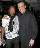 FORT LAUDERDALE - FL - FEBRUARY 15:  (EXCLUSIVE COVERAGE)  Jamie Foxx, Chazz Palminteri cooks in the kitchen with owner of Cafe Martorano, Steve Martorano on February 15, 2009 in Fort Lauderdale, Florida<br /> <br /> <br /> People:  Jamie Foxx, Chazz Palminteri