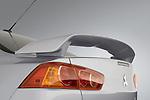 Mitsubishi Lancer rear spoiler detail.