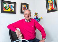 Hazerswoude, The Netherlands, Oktober 9, 2018,  Tom Okker in his art gallery<br /> Photo: Tennisimages/Henk Koster