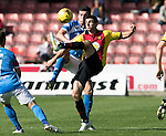 Partick Thistle v St Johnstone…10.09.16..  Firhill  SPFL<br />Kris Doolan and Joe Shaughnessy<br />Picture by Graeme Hart.<br />Copyright Perthshire Picture Agency<br />Tel: 01738 623350  Mobile: 07990 594431