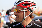 Radioshack-Nissan Trek rider Fabian Cancellara (SUI) relaxes before the 2nd Stage of the 2012 Tour of Qatar a team time trial at Lusail Circuit, Doha, Qatar, 6th February 2012 (Photo Eoin Clarke/Newsfile)