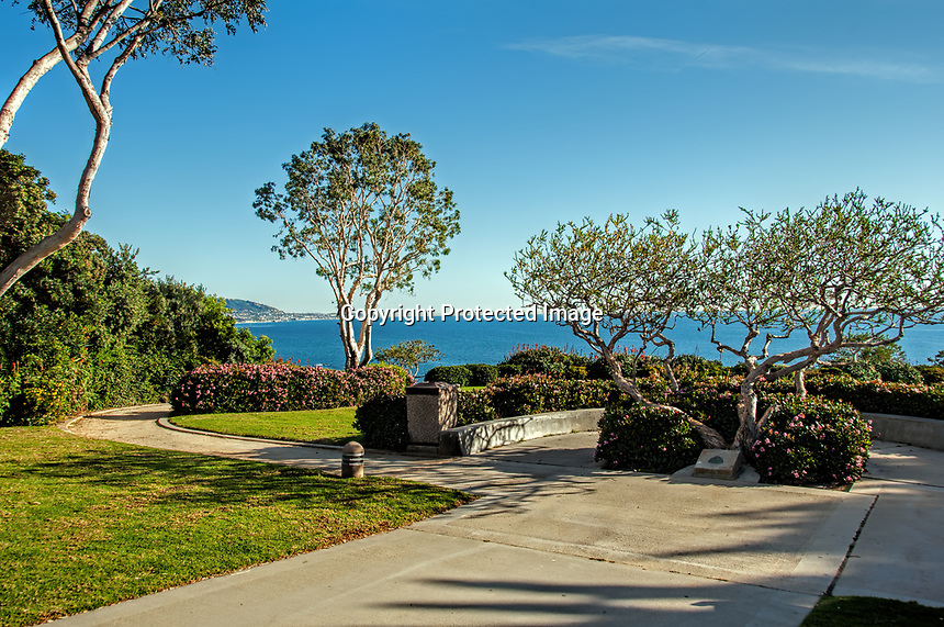 A view of Cresent Point Park, Laguna Beach, California.