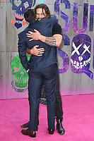 """Jai Courtney and Jason Momoa<br /> arrives for the """"Suicide Squad"""" premiere at the Odeon Leicester Square, London.<br /> <br /> <br /> ©Ash Knotek  D3142  03/08/2016"""