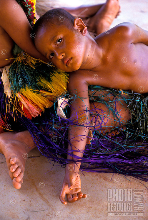 Young children of Ma village, Yap Micronesia