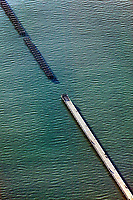 aerial photograph of the deteriorating Berkeley Pier, San Francisco Bay, California