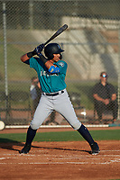 AZL Mariners Jepherson Garcia (26) at bat during an Arizona League game against the AZL Giants Orange on July 18, 2019 at the Giants Baseball Complex in Scottsdale, Arizona. The AZL Giants Orange defeated the AZL Mariners 7-4. (Zachary Lucy/Four Seam Images)
