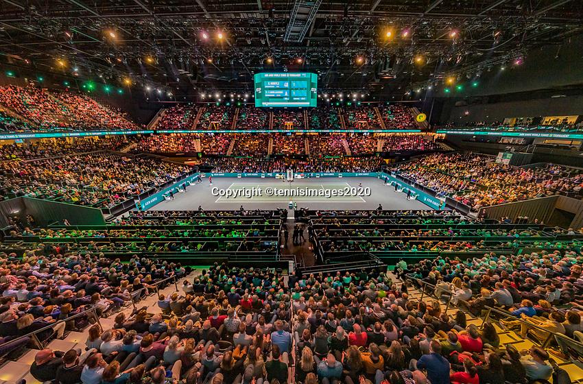 Rotterdam, The Netherlands, 16 Februari 2020, ABNAMRO World Tennis Tournament, Ahoy,<br /> Mens Single Final: Gaël Monfils (FRA) vs Felix Auger-Aliassime (CAN), overal vieuw <br /> Photo: www.tennisimages.com