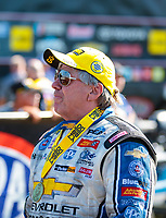 Sep 2, 2019; Clermont, IN, USA; NHRA funny car driver John Force after winning the US Nationals at Lucas Oil Raceway. Mandatory Credit: Mark J. Rebilas-USA TODAY Sports