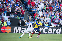 Action photo during the match United States vs Ecuador at CenturyLink Field Stadium Copa America Centenario 2016. ---Foto  de accion durante el partido Estados Unidos En el Estadio CenturyLink Field. Partido Correspondiante a los Cuartos de Final de la Copa America Centenario USA 2016, en la foto:  Arturo Mina<br /> --- - 16/06/2016/MEXSPORT/Omar Martinez.