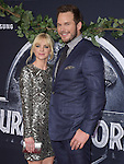 Anna Faris and Chris Pratt attends The Universal Pictures World Premiere of Jurassic World held at The Dolby Theatre  in Hollywood, California on June 09,2015                                                                               © 2015 Hollywood Press Agency