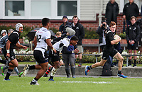 Wil Gualter in action during the rugby union match between New Zealand Schools and Fiji Schools at Hamilton Boys' High School in Hamilton, New Zealand on Monday, 30 September 2019. Photo: Simon Watts / lintottphoto.co.nz