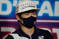 9th September 2021; Nationale di Monza, Monza, Italy; FIA Formula 1 Grand Prix of Italy, Driver arrival and inspection day:  Yuki Tsunoda JPN, Scuderia AlphaTauri Honda