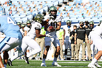 CHAPEL HILL, NC - NOVEMBER 14: Sam Hartman #10 of Wake Forest hands off the ball to Kenneth Walker III #9 during a game between Wake Forest and North Carolina at Kenan Memorial Stadium on November 14, 2020 in Chapel Hill, North Carolina.