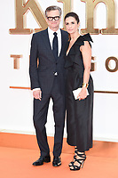 """Colin and Livia Firth<br /> arriving for the """"Kingsman: The Golden Circle"""" World premiere at the Odeon and Cineworld Leicester Square, London<br /> <br /> <br /> ©Ash Knotek  D3309  18/09/2017"""